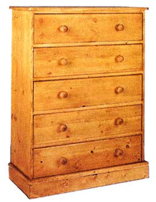 cornish 5 Drawer