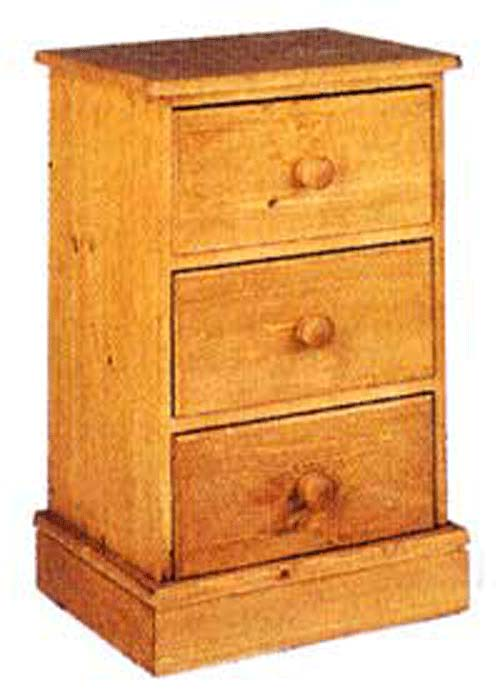 cornish 3 Drawer Bedside Narrow