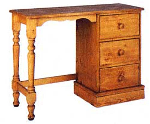 cornish Single Pedestal Dressing Table