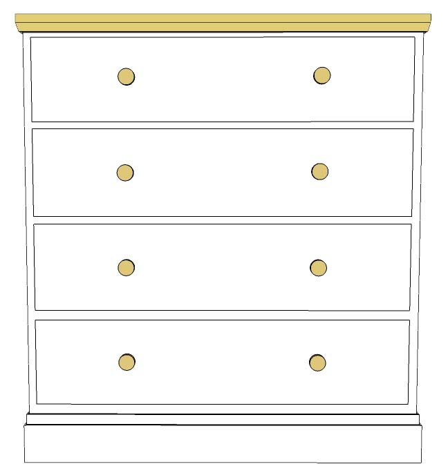 Cornish Painted 4 drawer