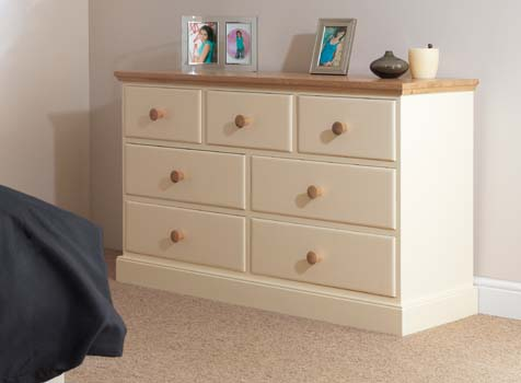 Cornish Painted 7 drawer multichest
