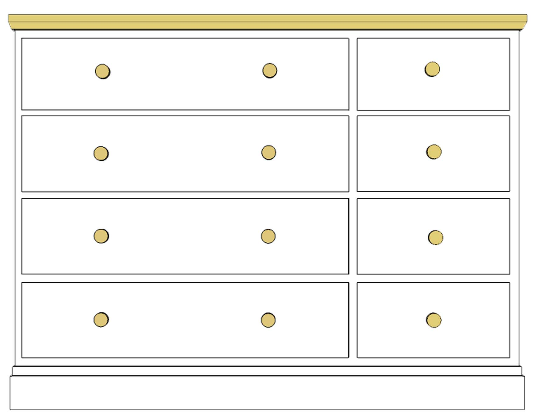 Cornish Painted 8 drawer multichest