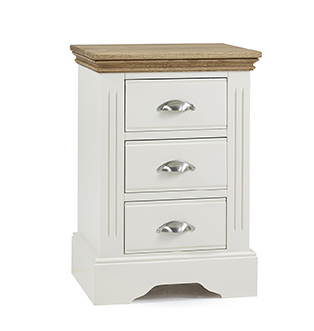 Kensington 3 Drawer Bedside