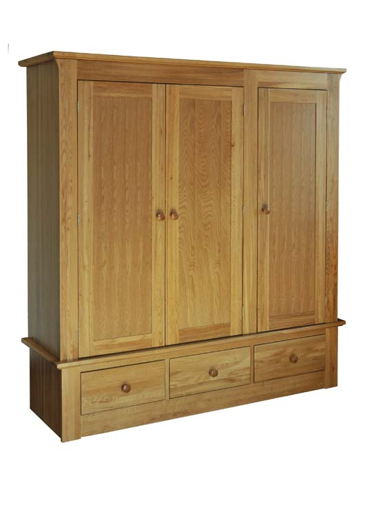 siena 3 Door 3 Drawer Robe