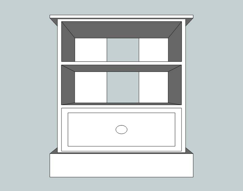 somerset Small 1 Drawer TV Unit