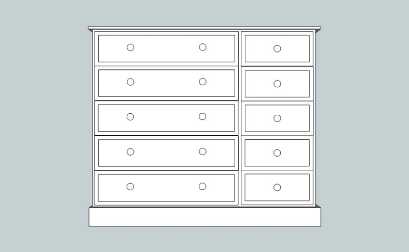 somerset 10 Drawer Multi Chest