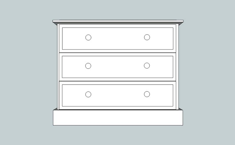 somerset 3 Drawer Chest