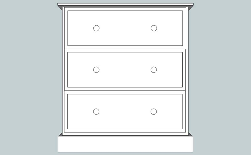 somerset Deep 3 Drawer Chest