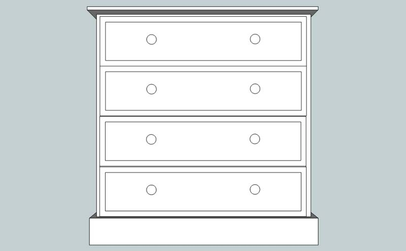 somerset 4 Drawer Chest