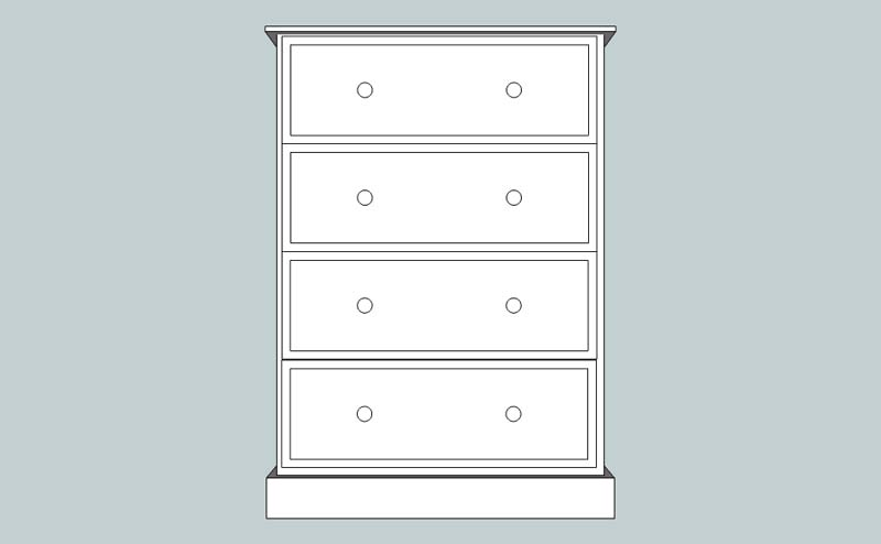 somerset Deep 4 Drawer Chest
