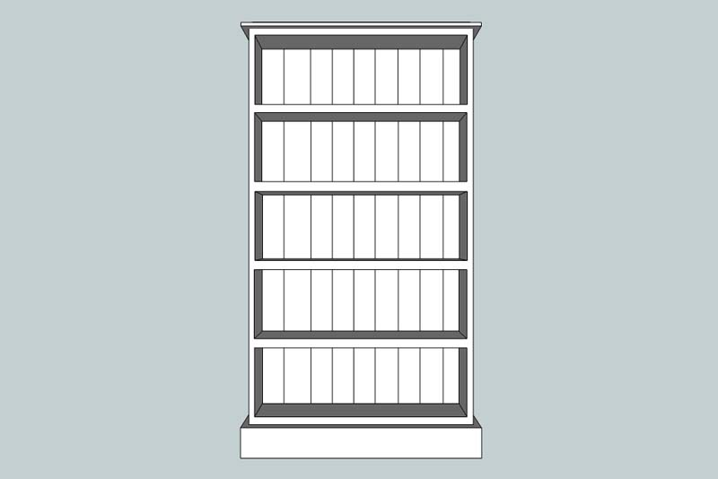 somerset 60 x 32 x 12 BOOKCASE