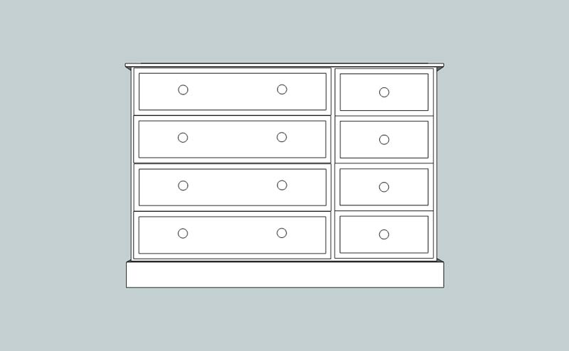 somerset 8 Drawer Multi Chest