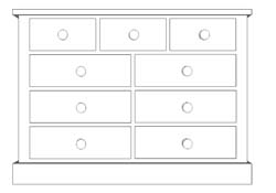sussex 9 Drawer Multi-Chest