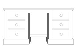 sussex Double Pedestal Dressing Table