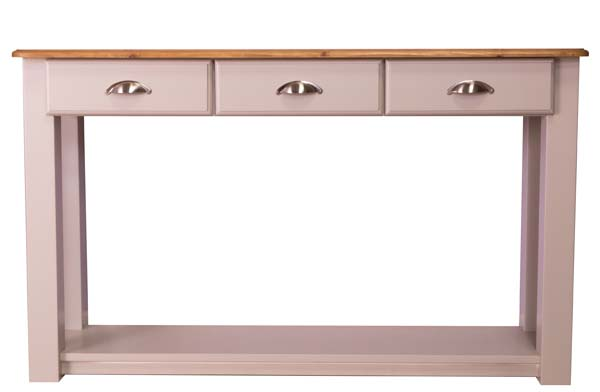 wiltshire living 3 Drawer Console Table With Shelf