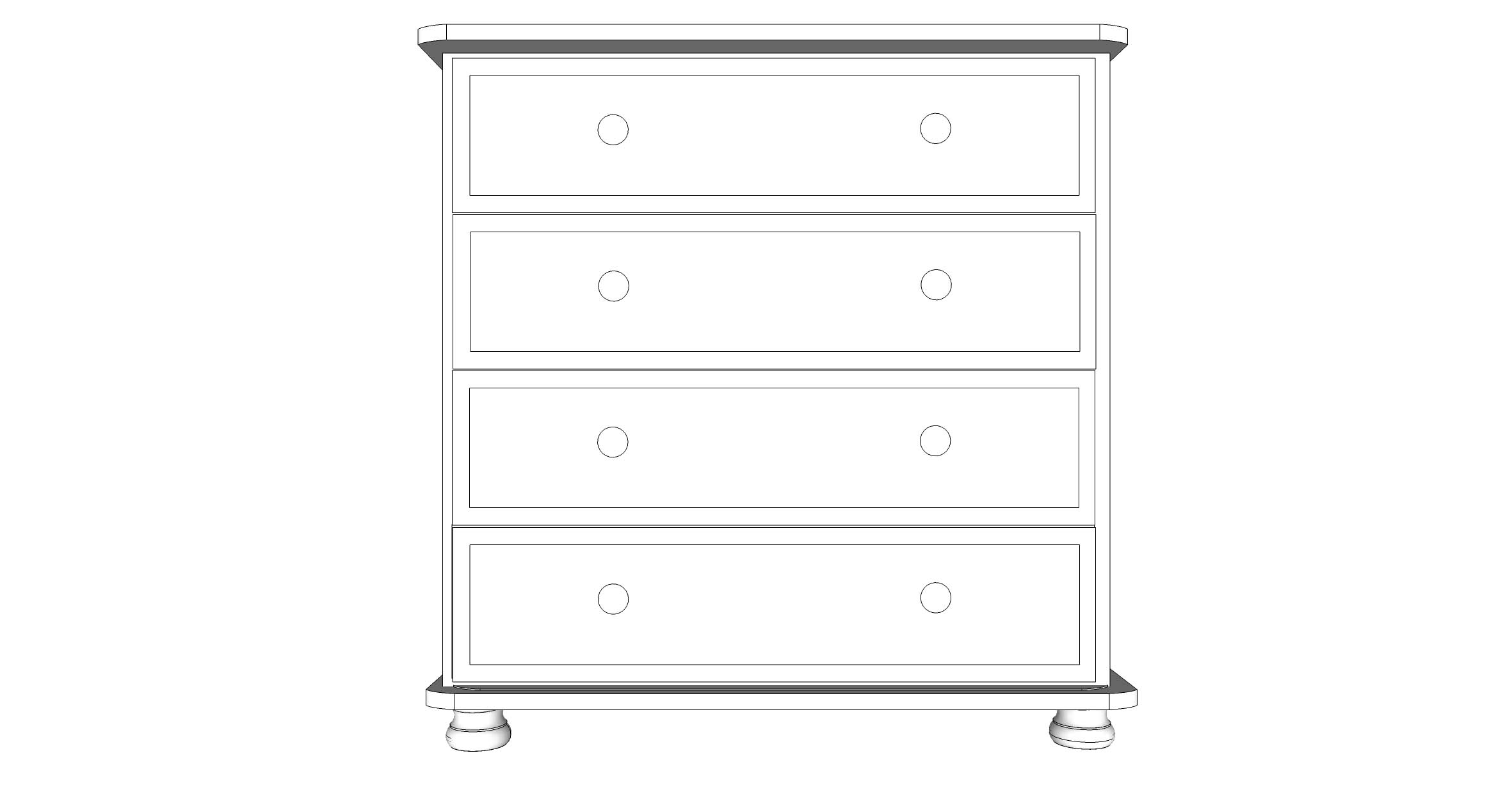 wiltshire 4 Drawer Chest