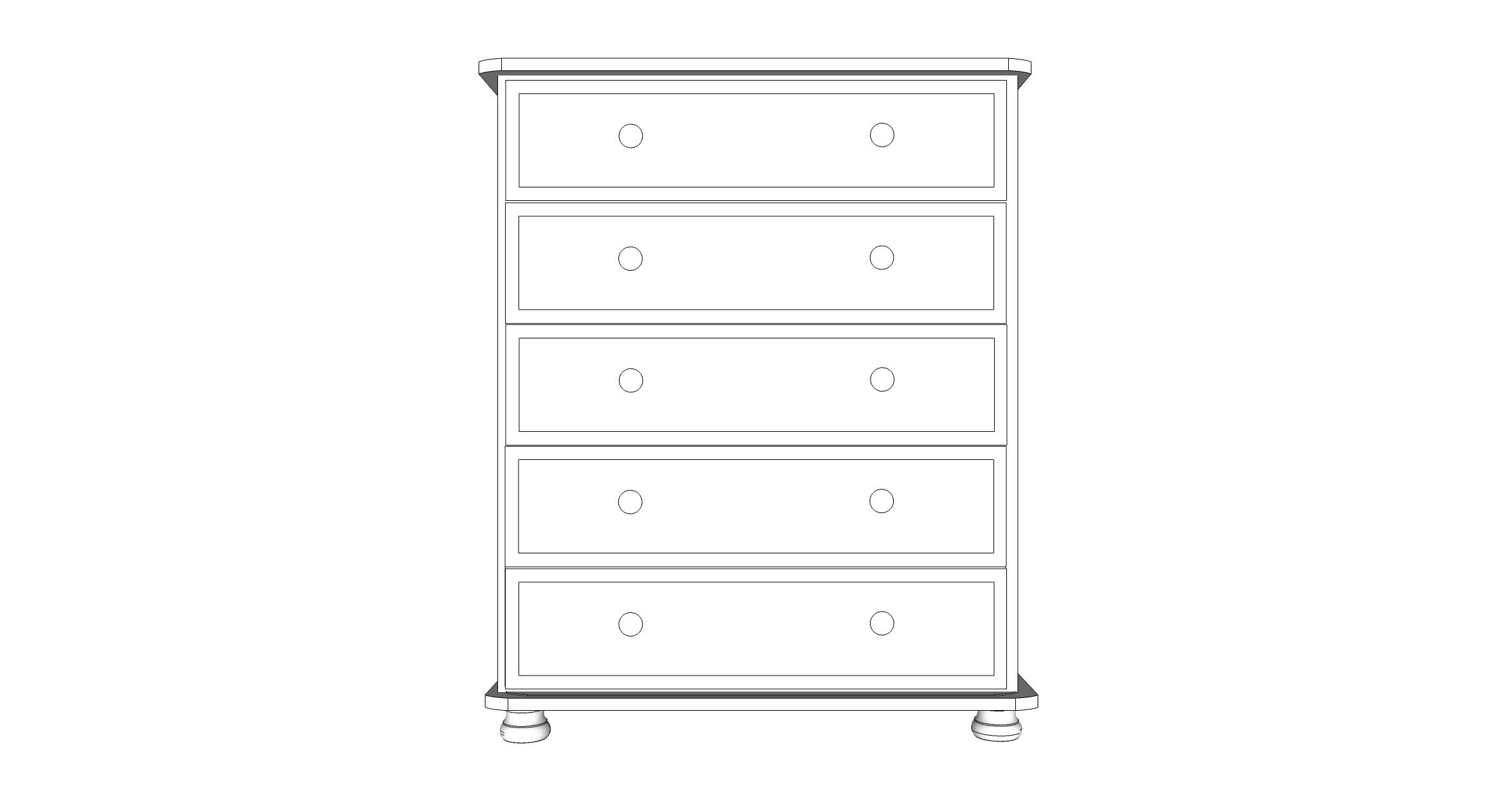 wiltshire 5 Drawer Chest