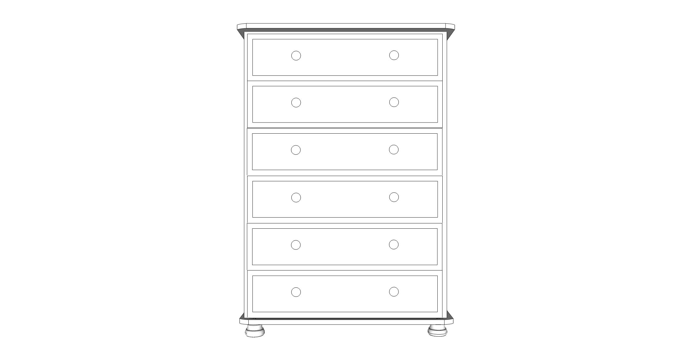 wiltshire 6 Drawer Chest