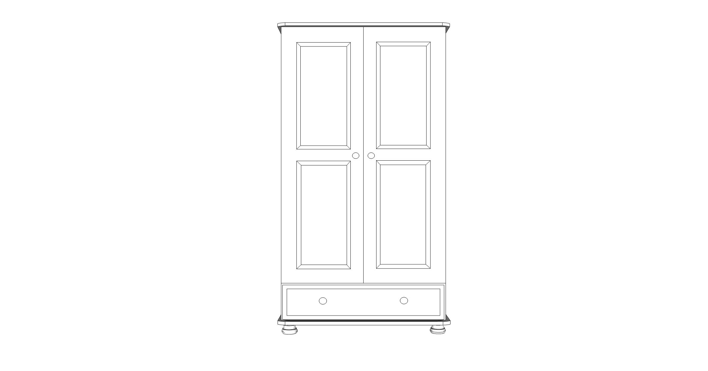 wiltshire Junior 2 Door 1 Drawer
