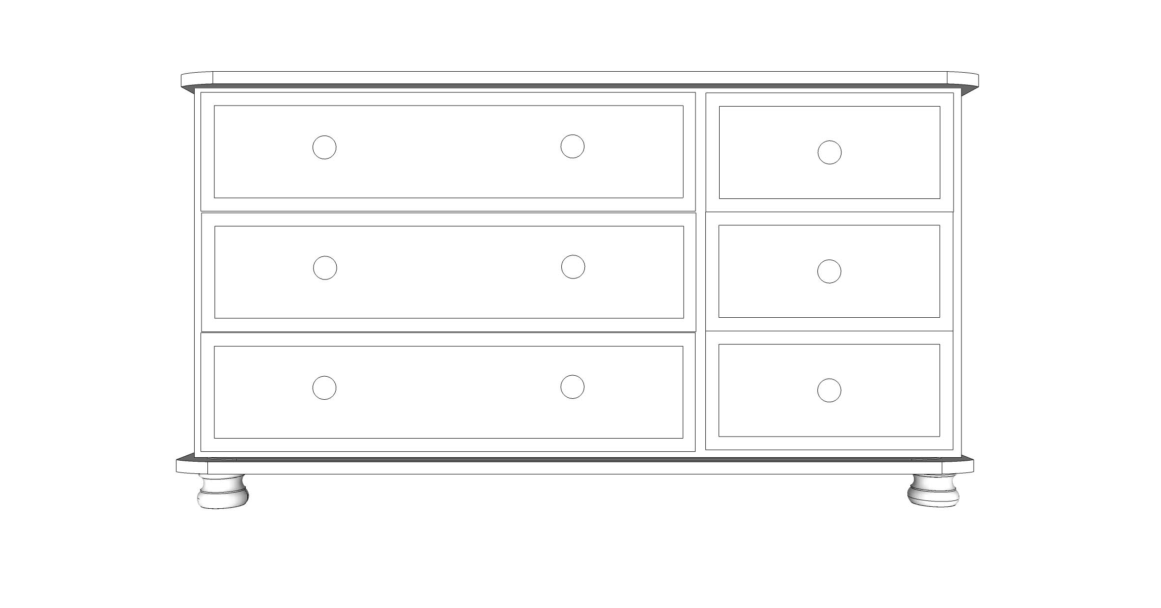 wiltshire 6 Drawer Multi Chest