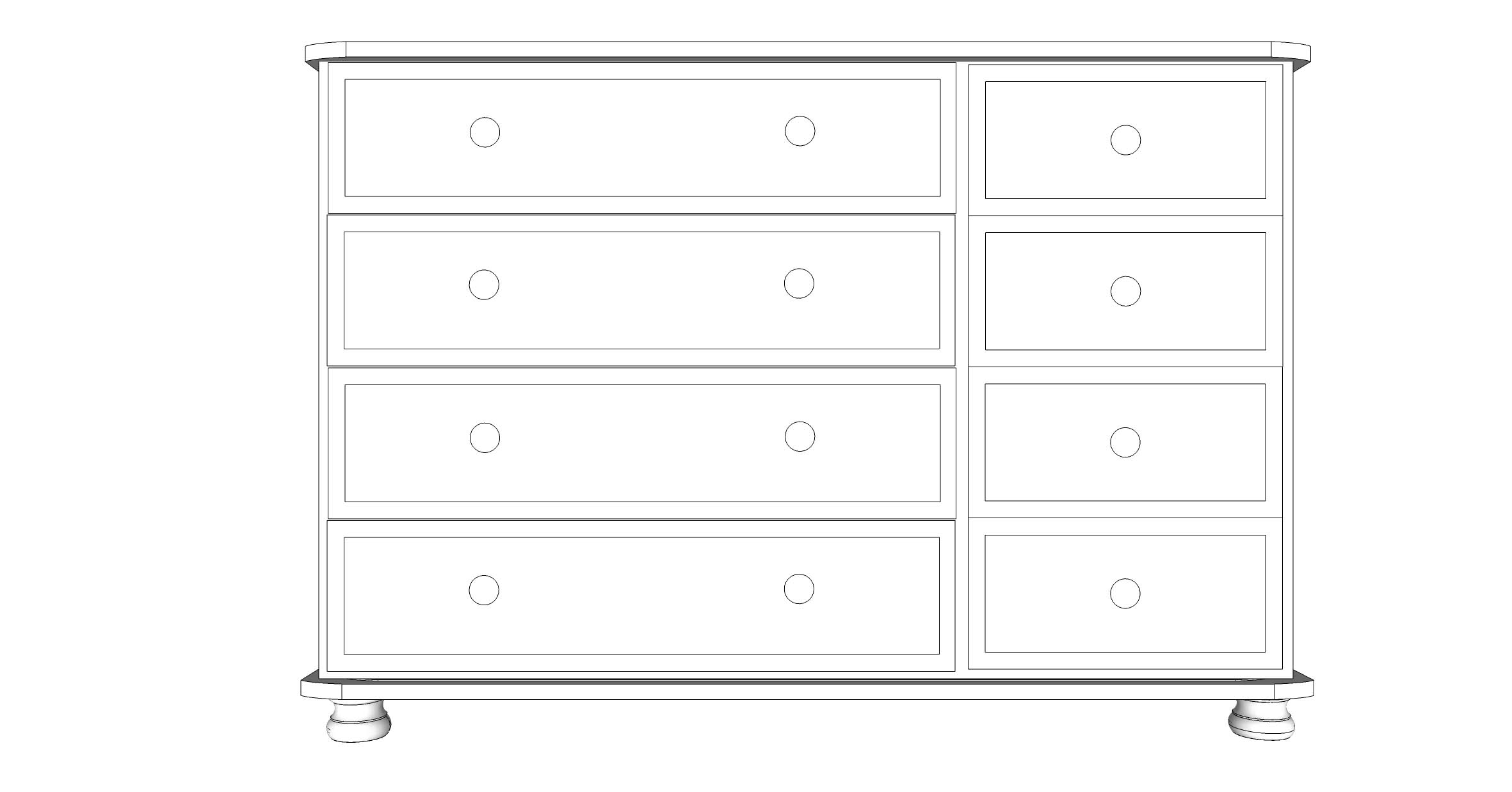 wiltshire 8 Drawer Multi Chest