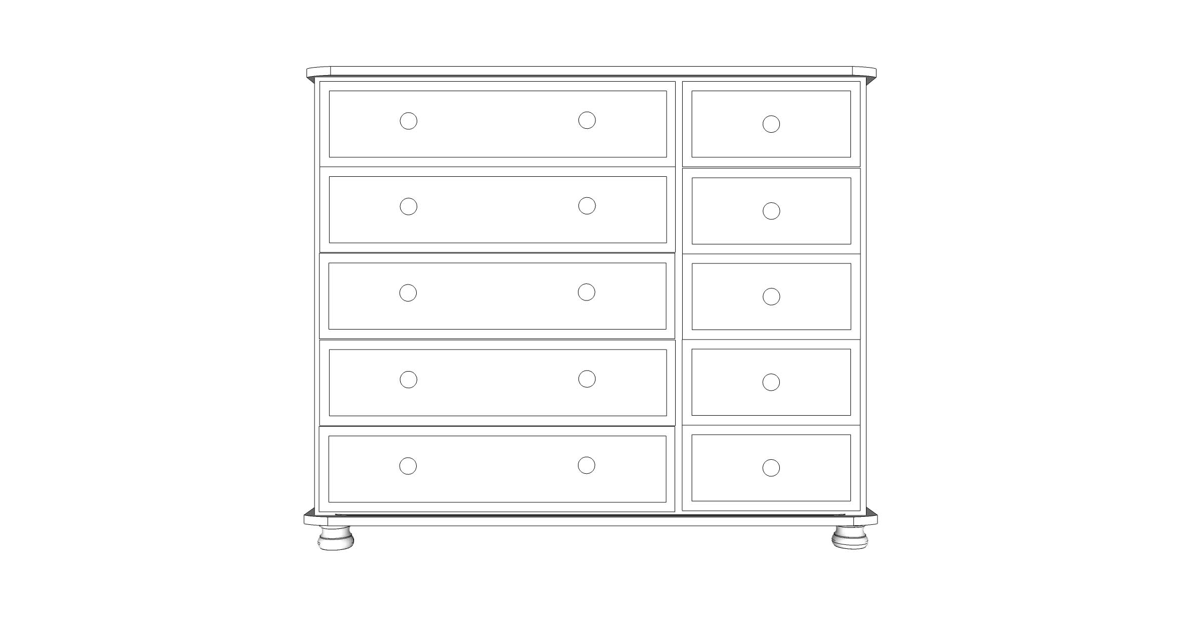 wiltshire 10 Drawer Multi Chest