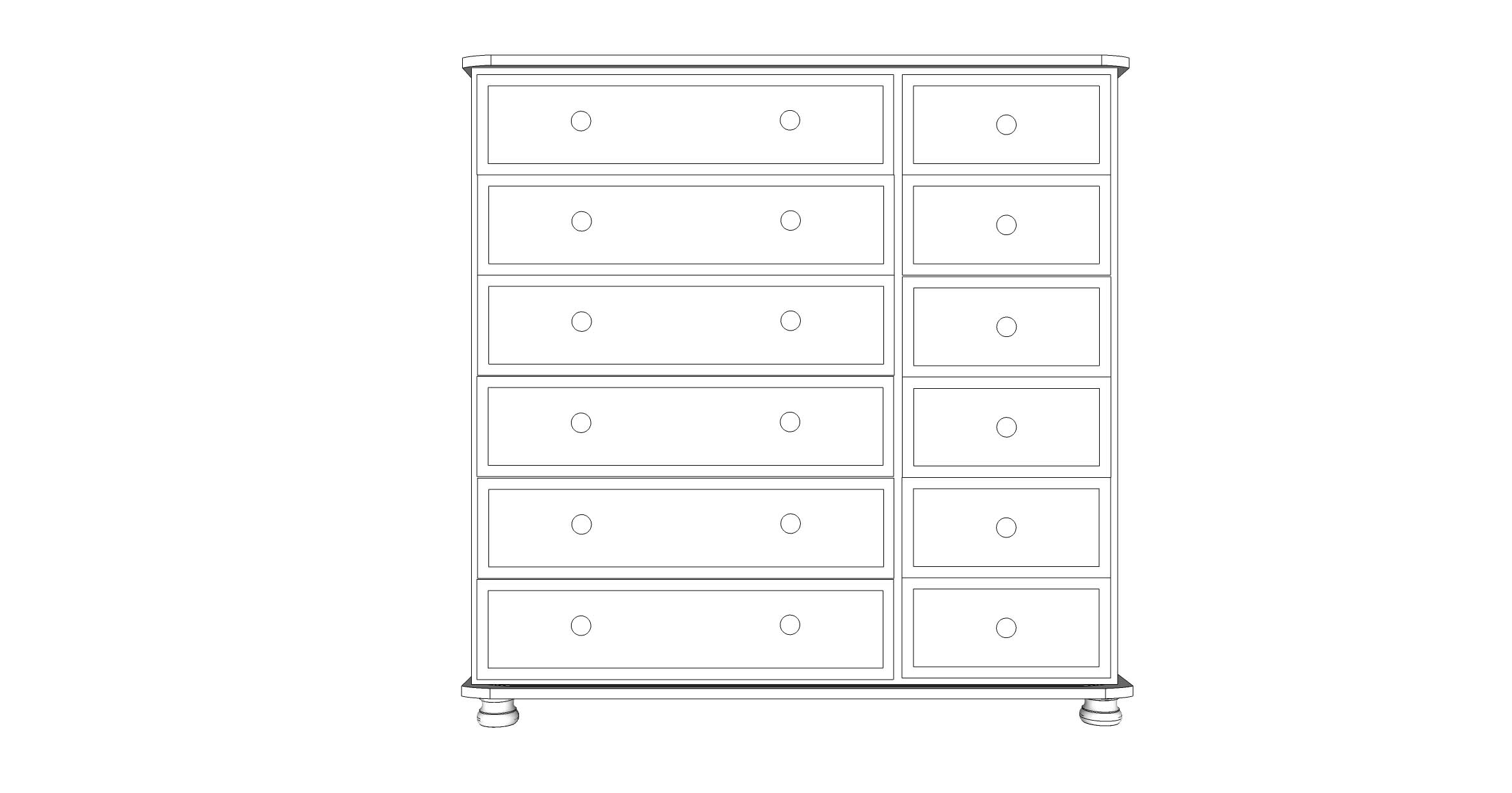 wiltshire 12 Drawer Multi Chest