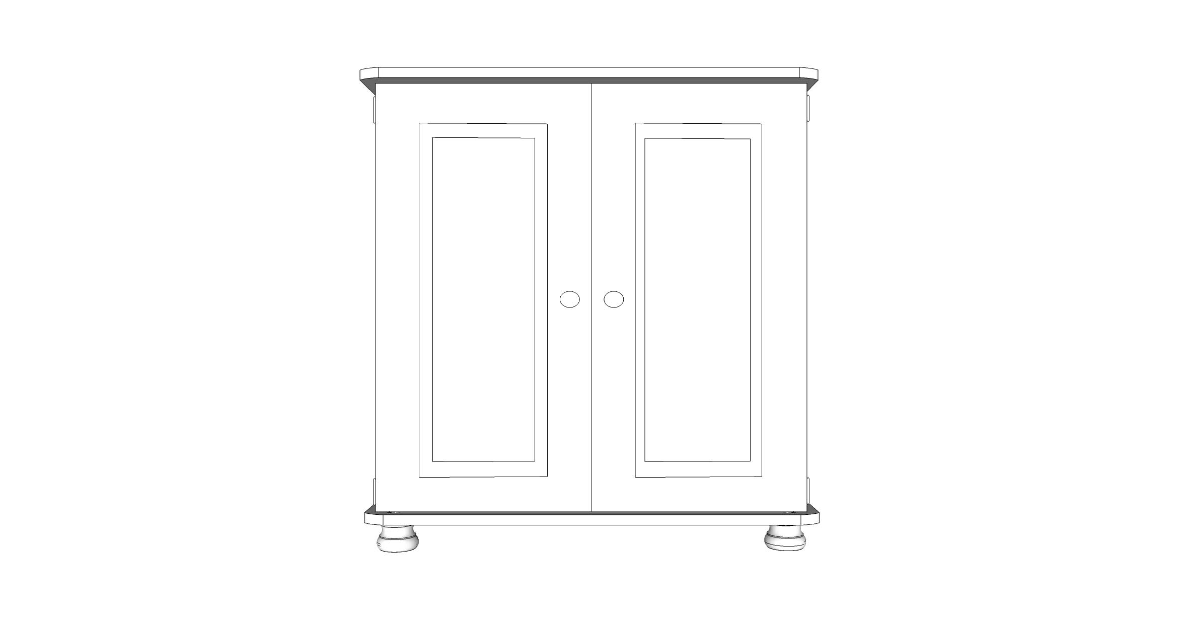 wiltshire 2 Door Small Cupboard with 1 adjustable Shelf