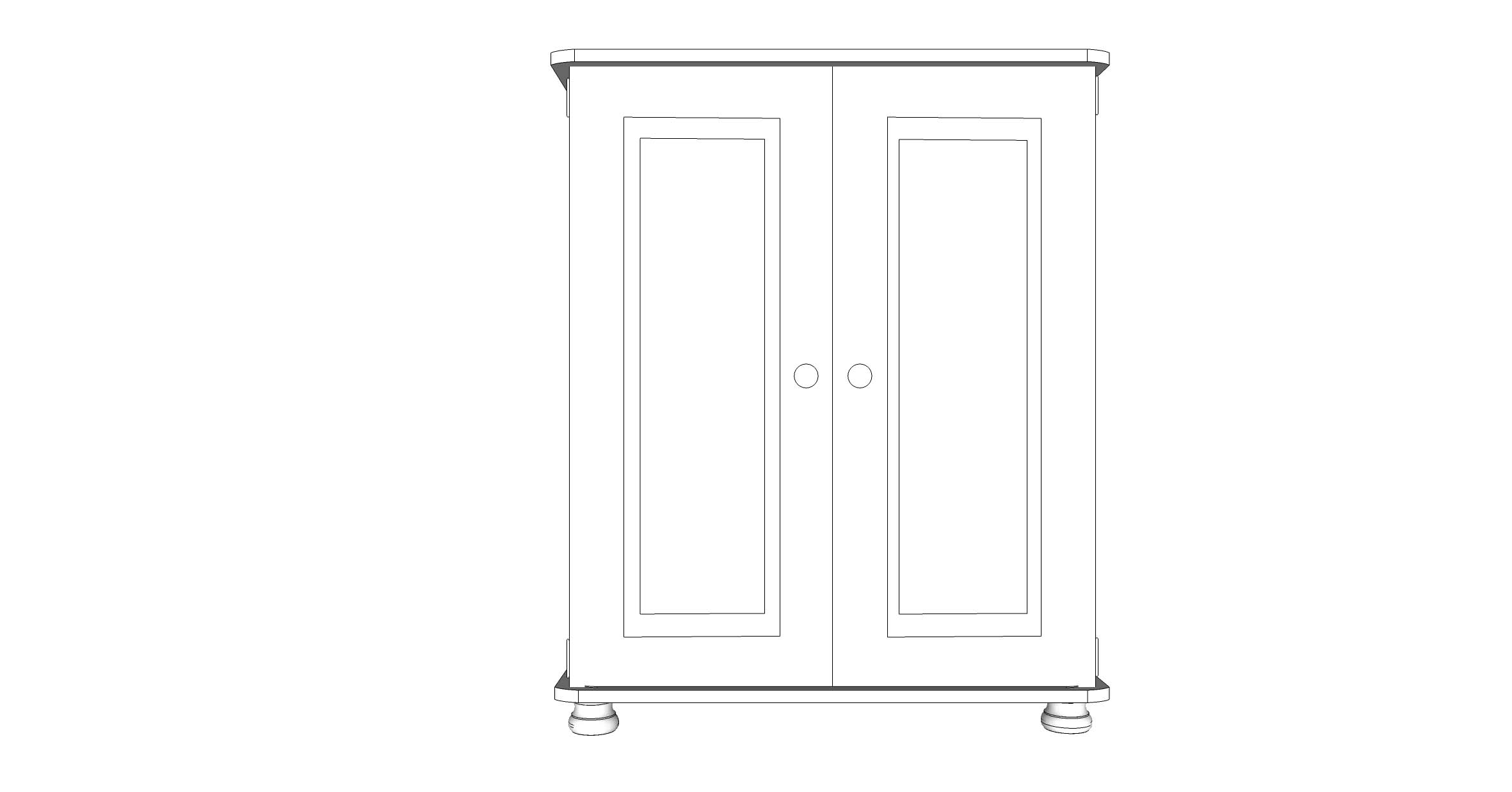 wiltshire 2 Door Large Cupboard with 2 adjustable shelves