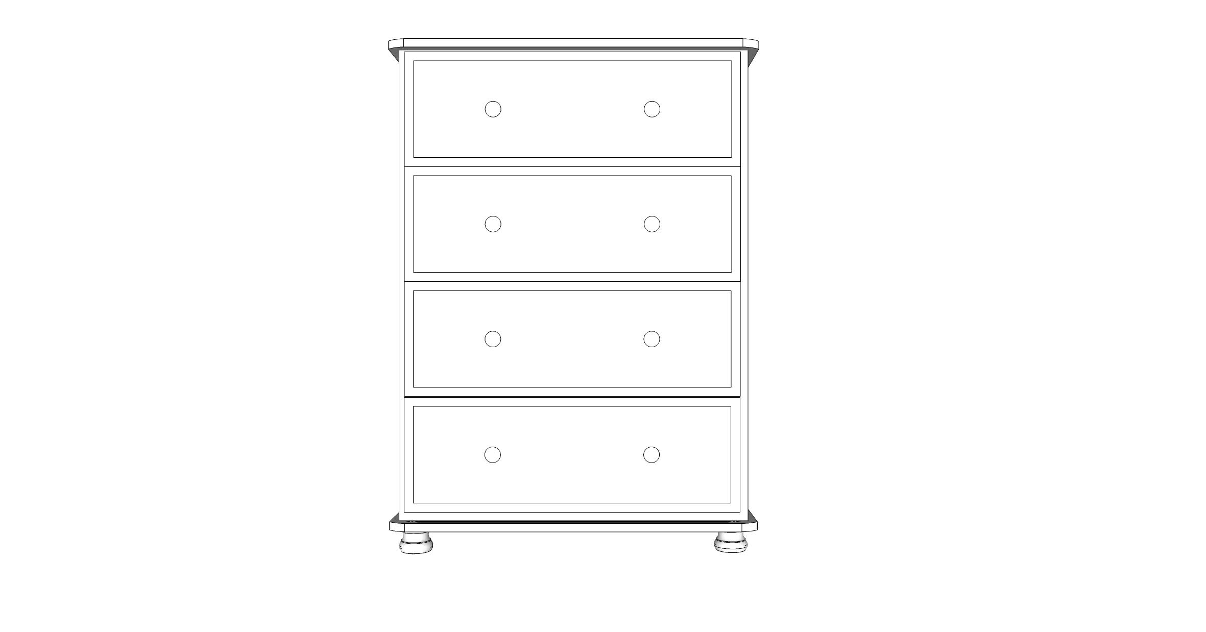 wiltshire 4 Drawer Jumbo Chest