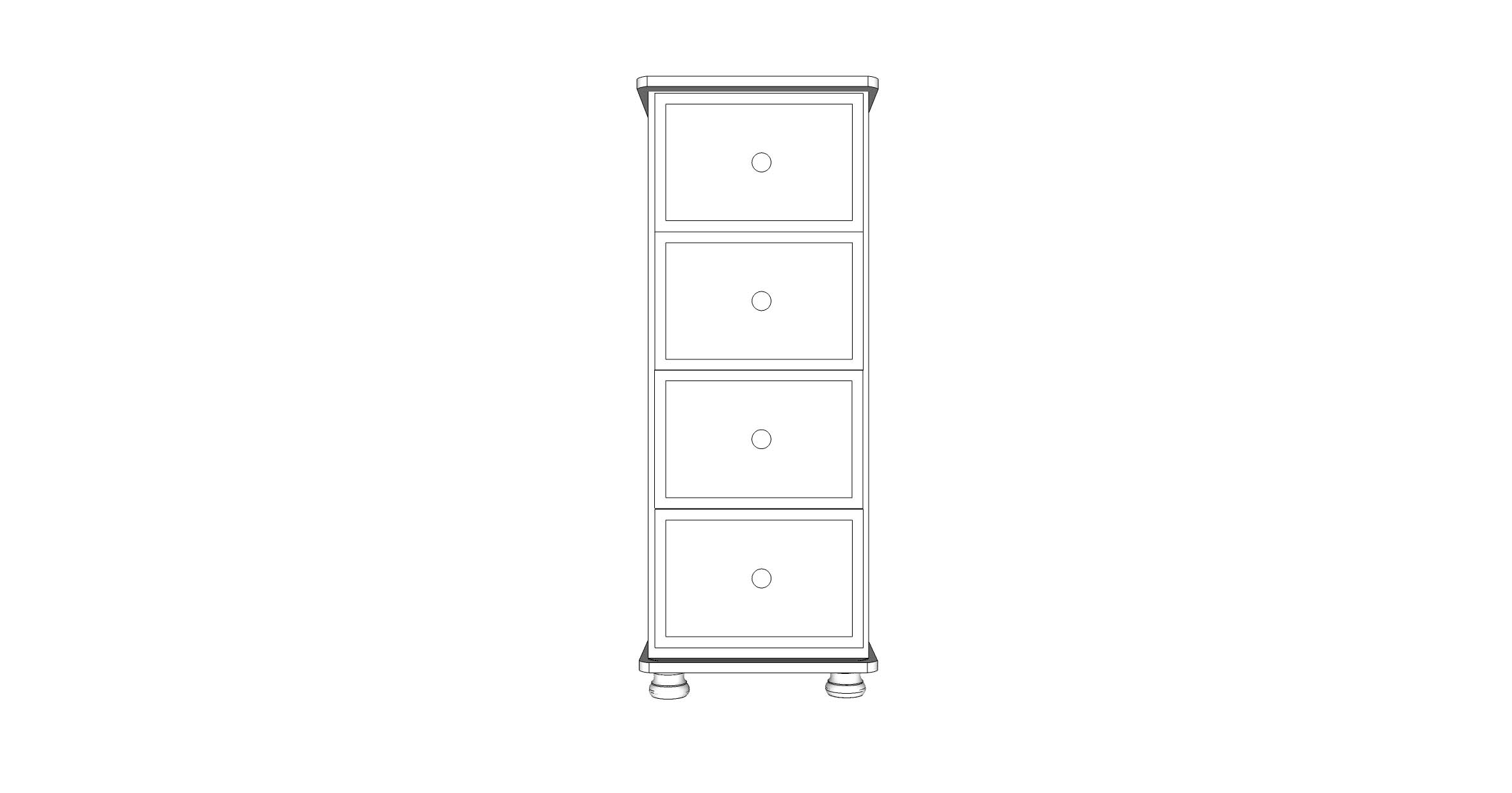wiltshire 4 Drawer Jumbo Wellington